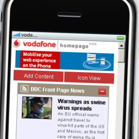 Vodafone launches iPhone Homepage