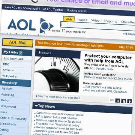 AOL offers new homepage