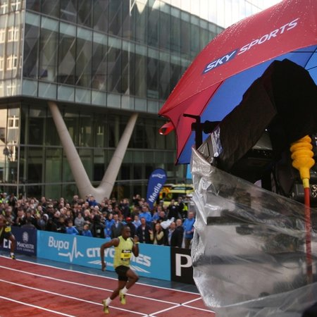 Sky captures fastest man on earth in 3D