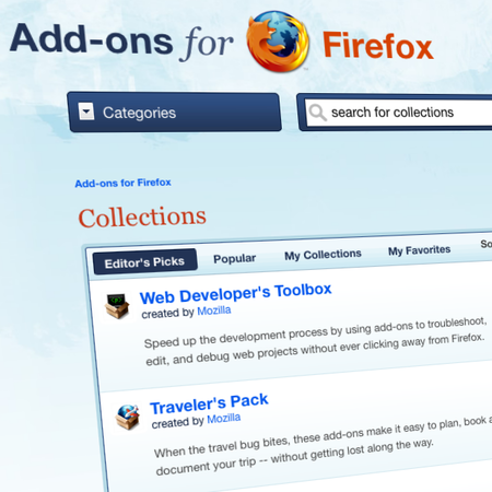 Firefox launches add-on collections