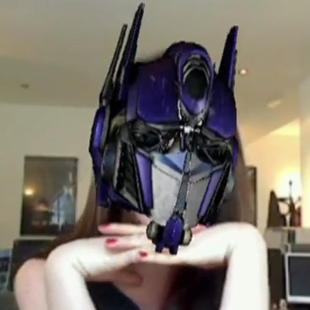 VIDEO: Transformers 3D webcam demo