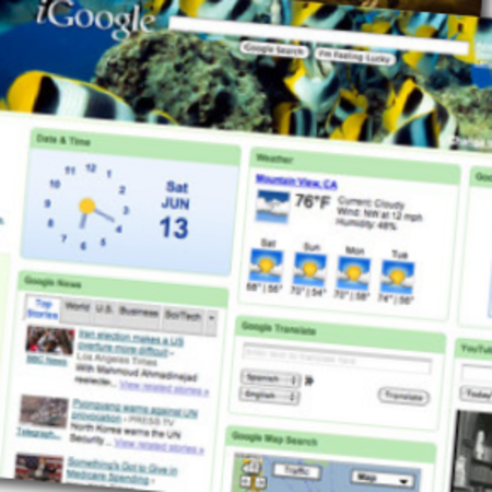 iGoogle launches nature themes