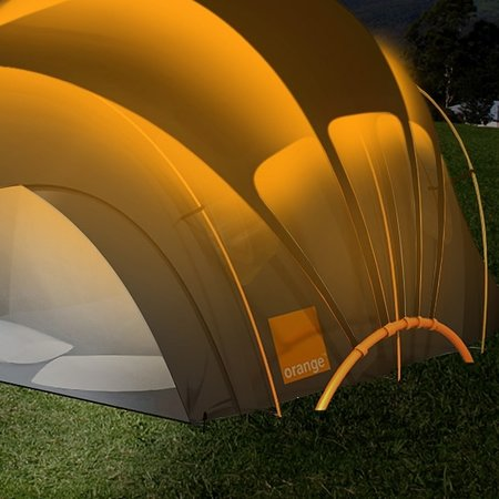 Orange reveals updated solar tent concept