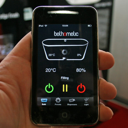 iPhone control for your bath with Bathomatic