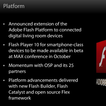 Adobe: Flash support to smartphones this year