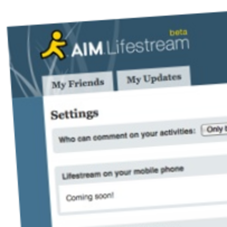 AOL's AIM adds lifestream