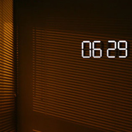 OLED digital clock concept shown