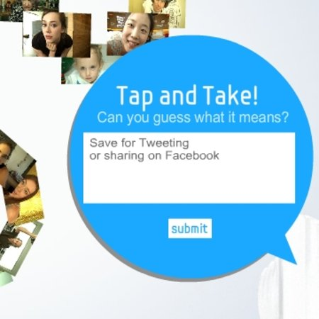 "Samsung teases with ""tap and take"" campaign"