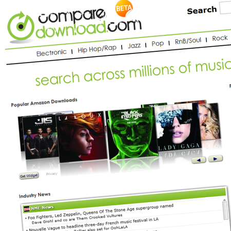 Music download price comparison site launches