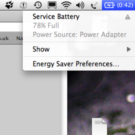 Service Battery: Snow Leopard encourages battery replacement