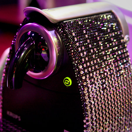 "Krups Nespresso coffee maker gets ""Blinged"""