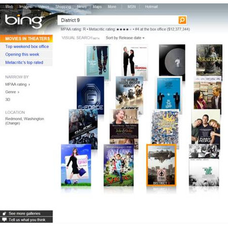 Bing visual search declares war on Cooliris