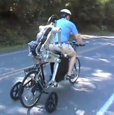 VIDEO: Robot rides a tandem bike