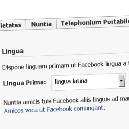 Facebook now available in Latin