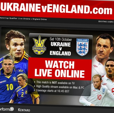 Ukraine World Cup qualifier only available live online
