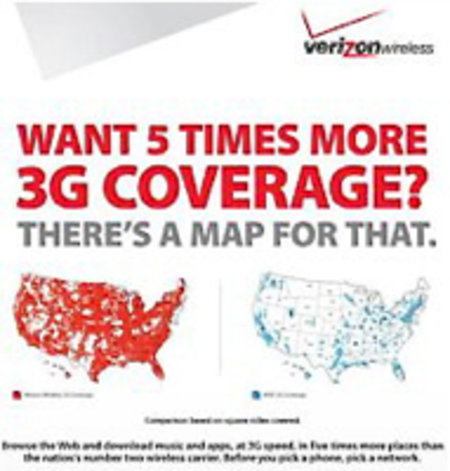 Verizon slams competitor's 3G coverage