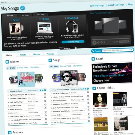 Sky Songs music service officially announced