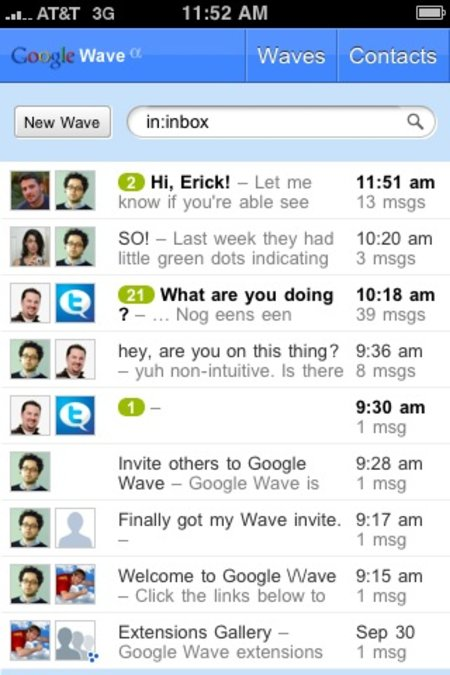 Google Wave working on iPhone and Android?