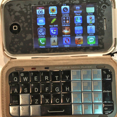 iPhone clone gets keyboard in case