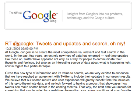 "Google shouts ""me too"" with Twitter search deal"