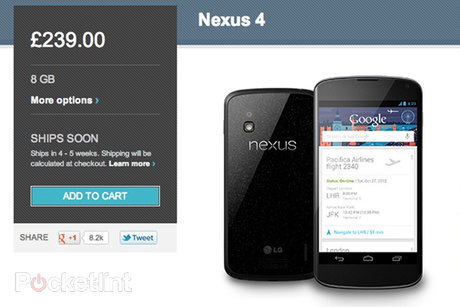 Nexus 4 available on Google Play... from 5pm today ...