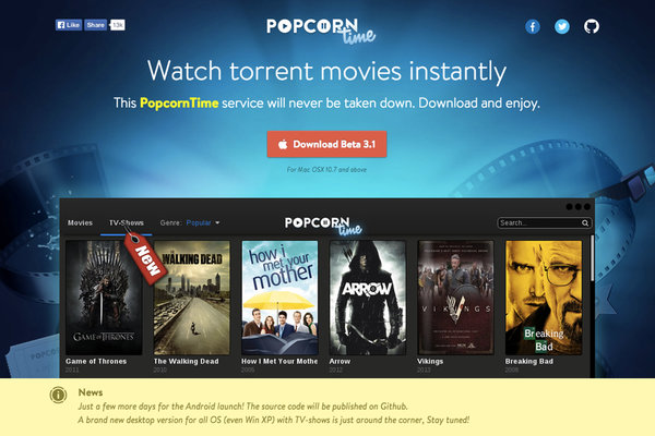 Best Alternatives to Popcorn Time to Watch Movies