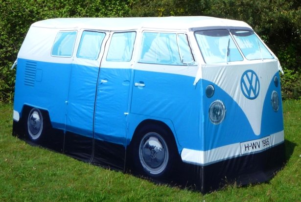 VW Camper camping but not as