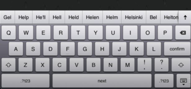 iOS 5 tweak reveals hidden Android-style auto-complete keyboard