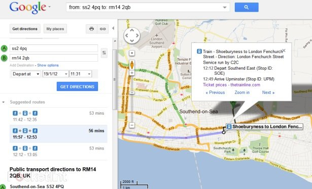 Google Maps teams up with thetrainline for UK travel info . Online, Google, Google Maps, Trains 1