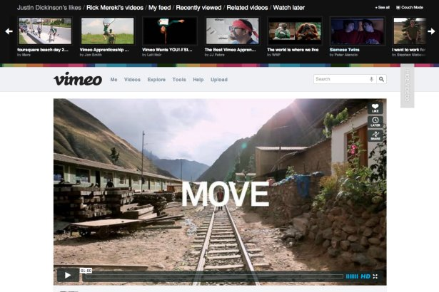 Vimeo revamped and almost ready for launch. Online, Vimeo, Video on demand 1