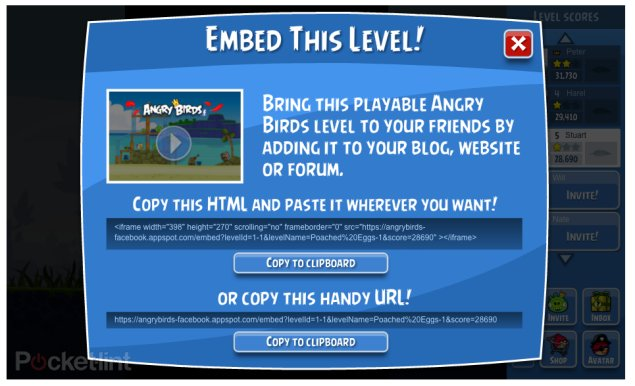 Angry Birds now playable on any website. Gaming, Angry Birds, Facebook, Rovio 0