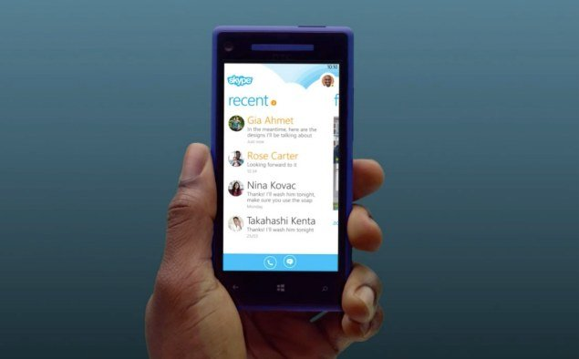 Skype for Windows Phone 8 detailed. Skype, Phones, Windows Phone 8, Microsoft 0