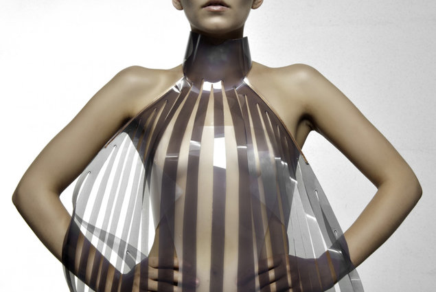 High-tech dress turns transparent when horny. Fashion, Clothes 5