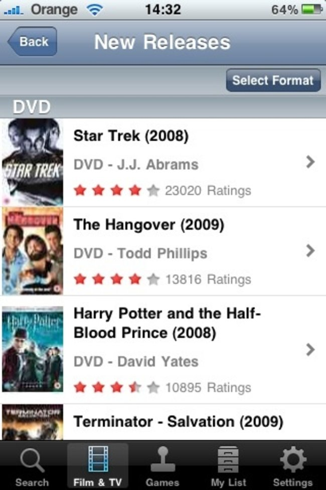 LOVEFiLM offers free iPhone app - photo 2
