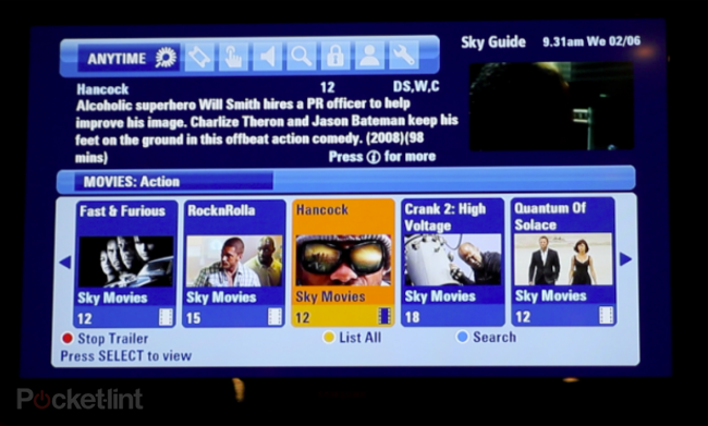 Sky Anytime Plus adds video on demand service to Sky HD - photo 1