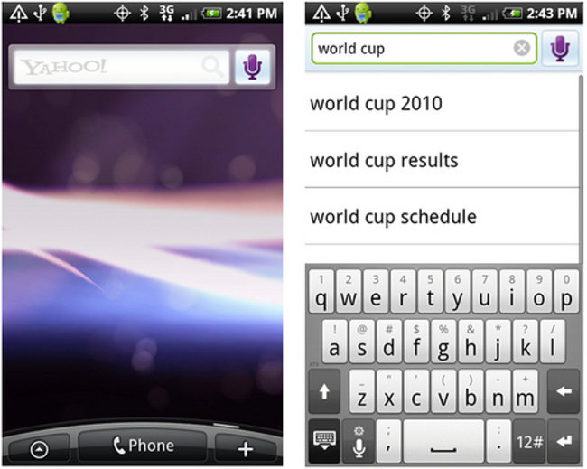 Yahoo apps hit the Android marketplace - photo 2