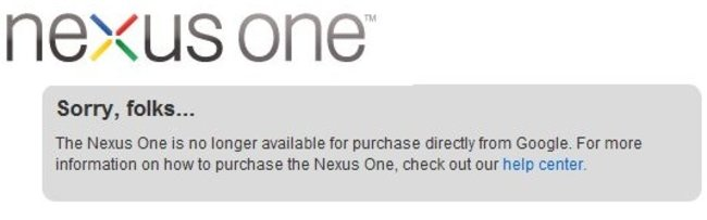 The Nexus One is no more (at least directly from Google that is) - photo 2