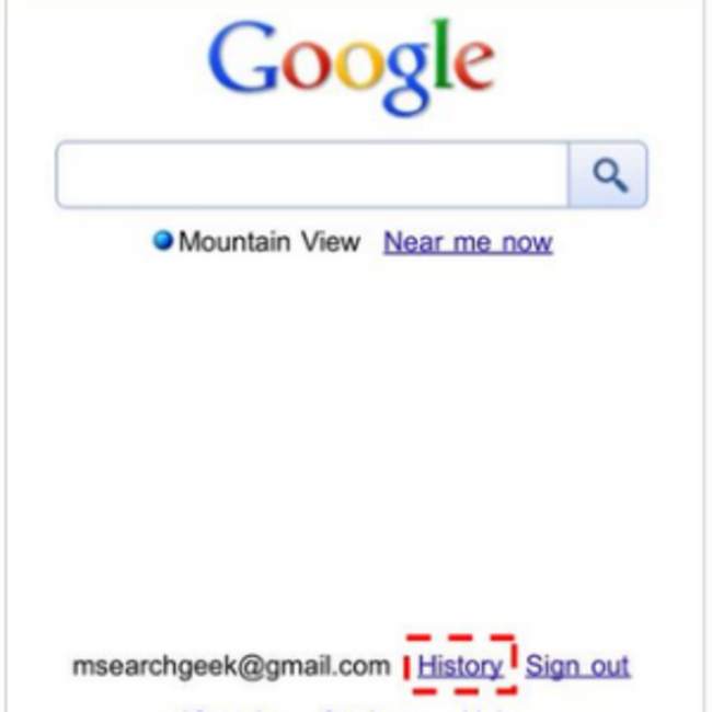 Google goes mobile with web history - photo 1