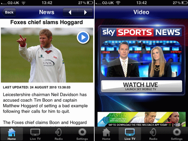 APP OF THE DAY: Sky Sports News (iPhone & iPad) - photo 4