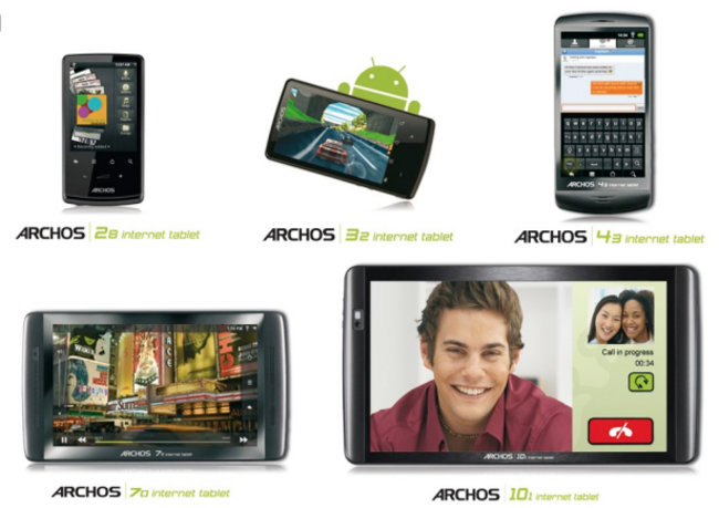 Archos floods Android tablet market with 5 new models starting at £99 - photo 1