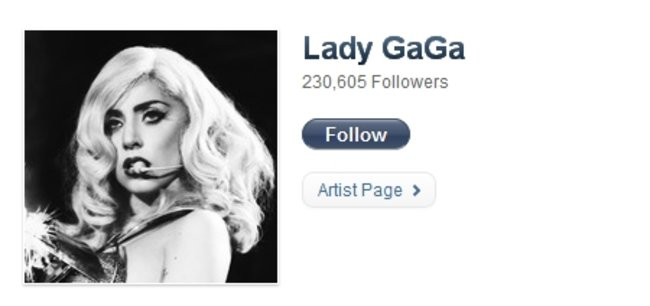 Ping: Top 10 most followed artists - photo 2