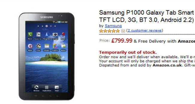 Samsung Galaxy Tab 16GB priced at £799 - photo 2