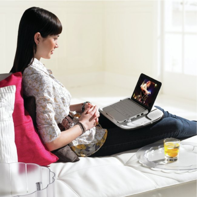 Logitech Speaker Lapdesk N550: The multifunctional tray - photo 2