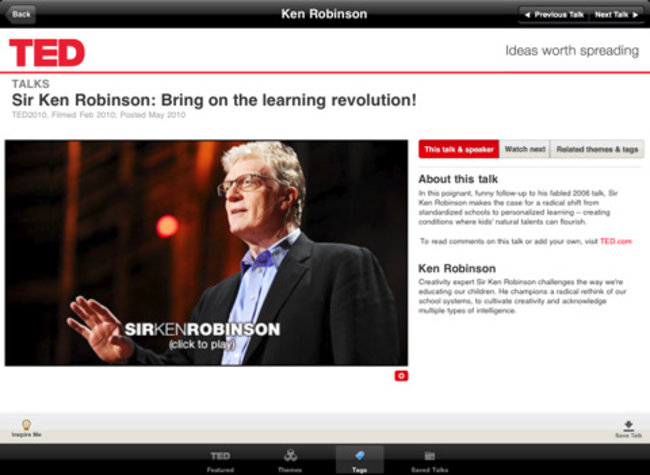 APP OF THE DAY: TED (iPad) - photo 4