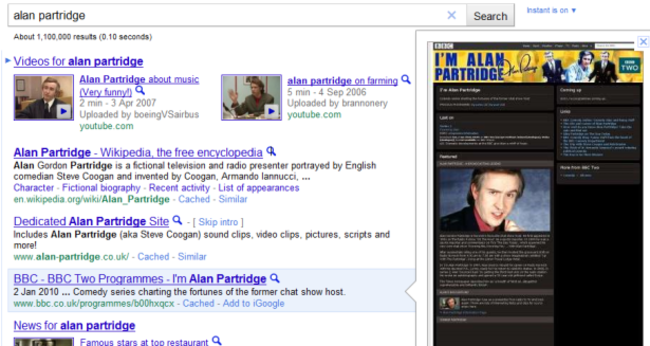 Google Instant Previews: A window to the world (wide web) - photo 2