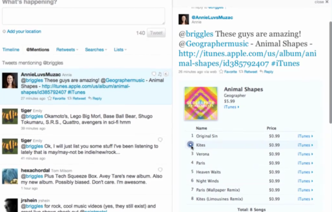 Twitter Pings in iTunes recommendations  - photo 2