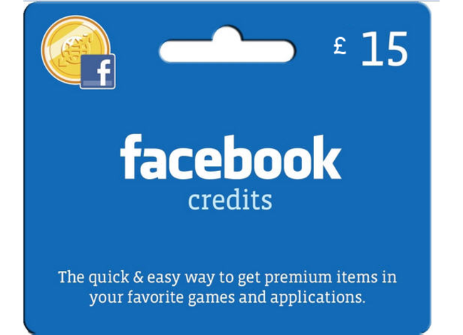 Facebook Credits gift cards on sale for Christmas - photo 2