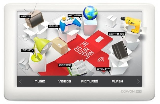Cowon invites 3D and Wi-Fi to its PMP party - photo 1