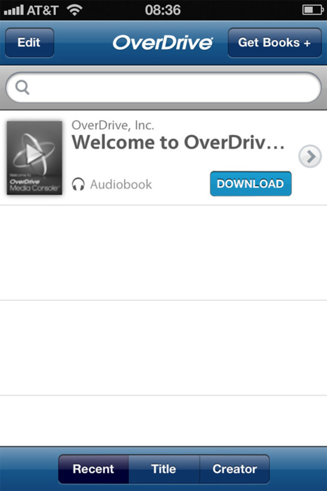 OverDrive Media Console brings free ebooks to Android and iPhone - photo 1