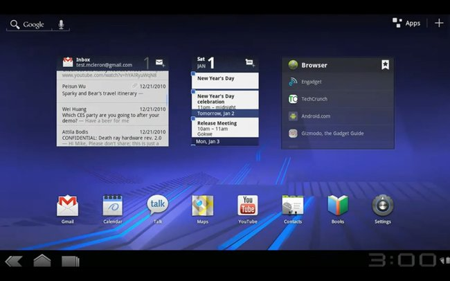 VIDEO: Google details Android 3.0 Honeycomb - photo 1